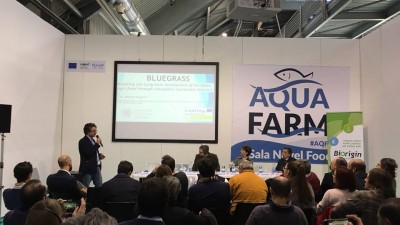 Bluegrass presented at the aquaculture fair Aquafarm 2018 in Pordenone